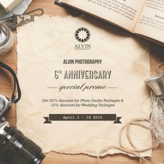 Alvin Photography 6th Anniversary Special Promo