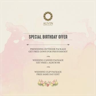 Special Birthday Offer Alvin Photography 7th